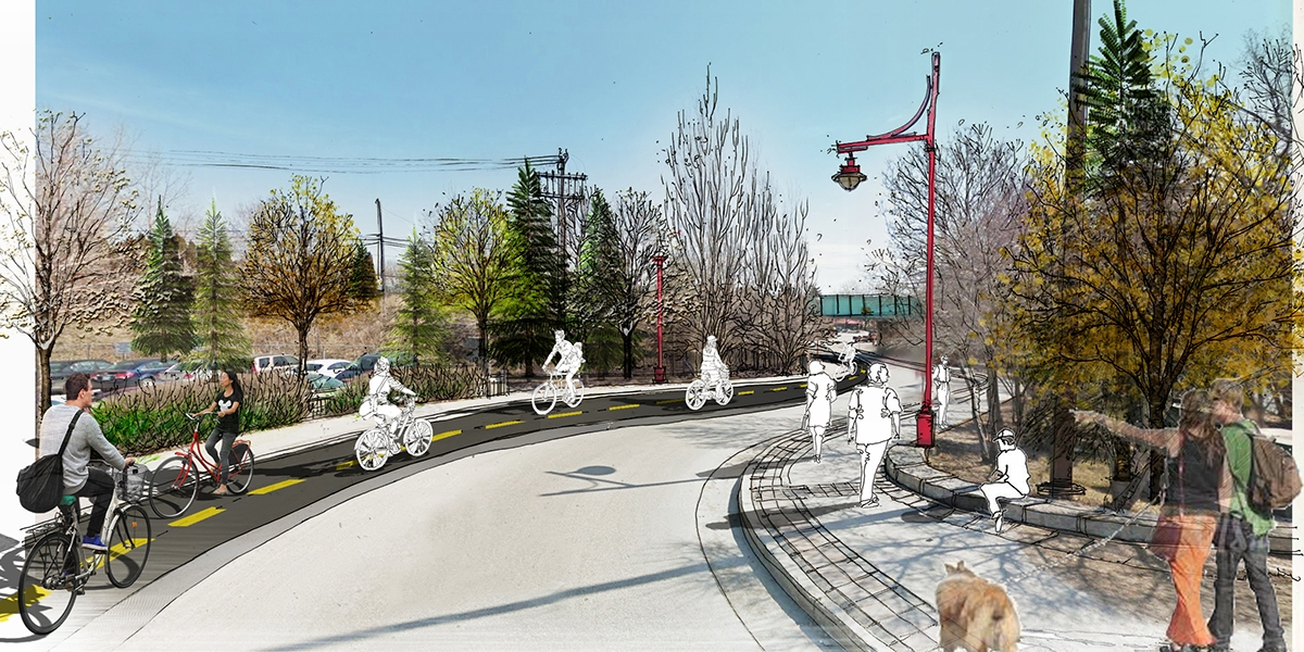 The Forks Active Transportation South Entry